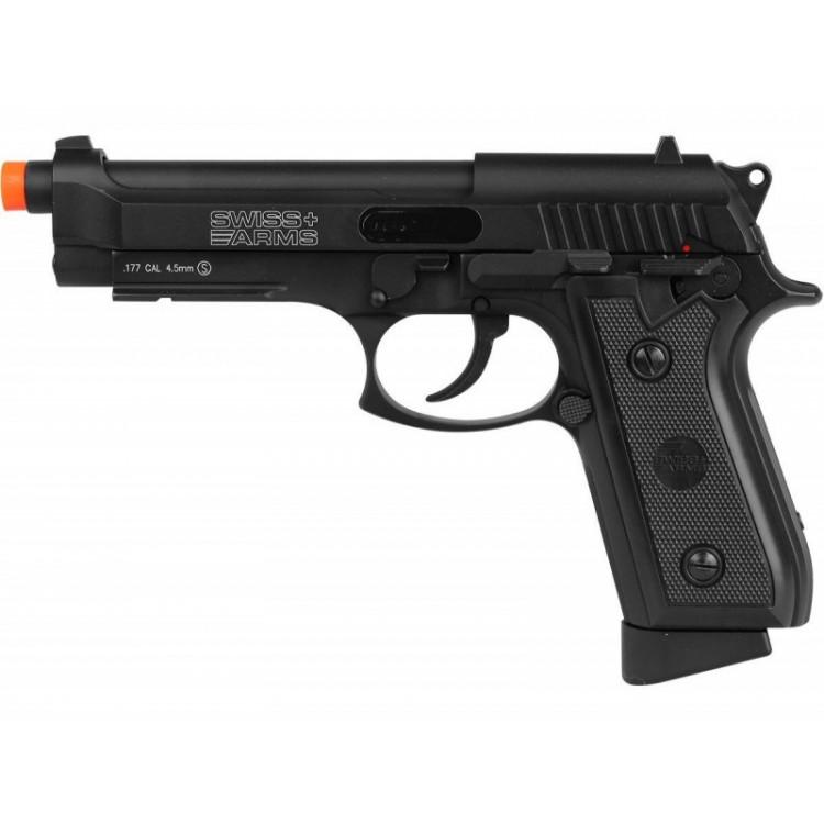 Pistola Airgun a Gas CO2 Swiss Arms P92 Full Metal 4,5mm